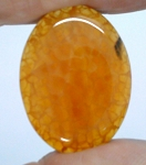 40x30mm Crackle Agate Dyed Amber Loose Gemstone Cabochon S2098C