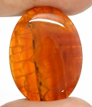 40x30mm Crackle Agate Dyed Amber Loose Gemstone Cabochon S2098D