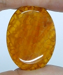 40x30mm Crackle Agate Dyed Amber Loose Gemstone Cabochon S2098F