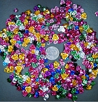 500+ pcs. Aluminum Roses Ornamental Destash Embelishments mixed colors and sizes 6-12mm S2118