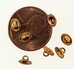 6x4mm Raw Brass Button Shank Button Back Finding  S2120