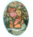 40x30mm Red Pink Matrix Collage Stone cabochon loose flat back  S2154A