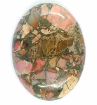 40x30mm Red Pink Matrix Collage Stone cabochon loose flat back  S2154D