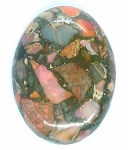 40x30mm Red Pink Matrix Collage Stone cabochon loose flat back  S2154G