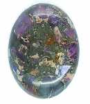 40x30mm Purple Violet Matrix Collage Stone cabachon S2157