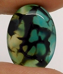 25x18mm Dyed Blue Dragons Vein flat back oval crackle agate Cabochon S2199F