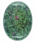 40x30mm Anyolite Ruby in Zoisite loose flat backed cabochon S2203