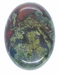 40x30mm Dragon Blood Jasper Flat Back Oval Gemstone Cabochon S2204