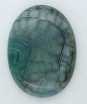 40x30mm Mossy Green Blue Dragon Vein Agate Cabochon Flat Back Oval S2214