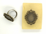 18x13mm Antique Bronze Ring Blank glue in ring setting S4068