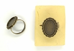 18x13mm Antique Bronze Ring Blank glue in ring setting S4073