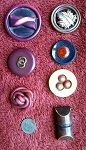 Antique Buttons Vintage Bakelite Buttons Plastic Coat Button B256