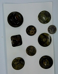 Vintage Bakelite Buttons 8pcs. Celluloid Carved Deco Coat Buttons B567