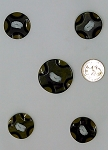 Vintage Bakelite Buttons 5pcs. Celluloid Carved Deco Coat Buttons B580