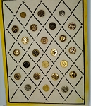 Collectors Card of Vintage Metal Buttons Happy Back Ball & Socket B585