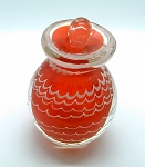 Studio Art Glass Perfume Bottle Ruby Red