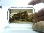 Vintage Glass Paperweight Souvenir Betsy Williams Cottage Providence RI