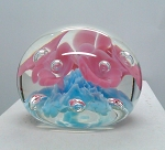 St. Clair Studio Paperweight 5 flower Signed 1974 Bob and Maude  G1096