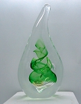 SOLD - Jablonski Lead Crystal Teardrop Paperweight from Poland G1101