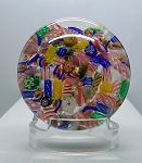 Paperweight Early Chinese Art Glass Millefiore Scramble Copy of St. Louis