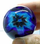 SOLD -  Zellique Signed Small Art Glass Blown Studio Paperweight