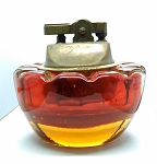 Amberina Vintage Blown Art Glass Mid-Century Murano Cigarette Table Lighter