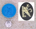 Food Safe Silicone Cameo Mold The LETTER K of the alphabet for candy soap