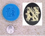 Food Safe Silicone Cameo Mold The LETTER N of the alphabet for candy soap