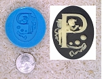 Food Safe Silicone Cameo Mold The LETTER P of the alphabet for candy soap