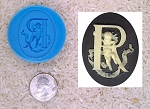 Food Safe Silicone Cameo Mold The LETTER R of the alphabet for candy soap