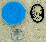 Gothic Zombie Skull Food Safe Silicone Cameo Mold for candy soap clay resin