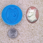 Border Collie Dog Lover Gift Food Safe Silicone Cameo Mold for candy soap