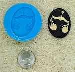 Astrology Zodiac Sign Libra Scales Food Safe Silicone Cameo Mold soap candy