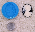Classic Victorian Woman Food Safe Silicone Cameo Mold for candy soap clay