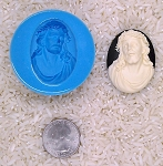 Jesus God Catholic Living Christ Food Safe Silicone Cameo Mold for candy soap