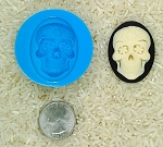 Sugar Skull Calavera Food Safe Silicone Cameo Mold for candy soap clay resin