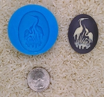 Crane Stork Heron Bird Food Safe Silicone Cameo Mold for candy soap clay