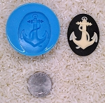 Anchor Sailor nautical Navy Marine Food Safe Silicone Cameo Mold for candy
