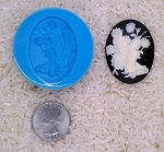 Fairy Woodland Nymph Pixie Food Safe Silicone Cameo Mold for candy soap