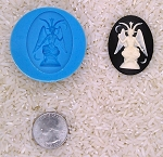 Baphomet occult wicca witchcraft Food Safe Silicone Cameo Mold candy soap
