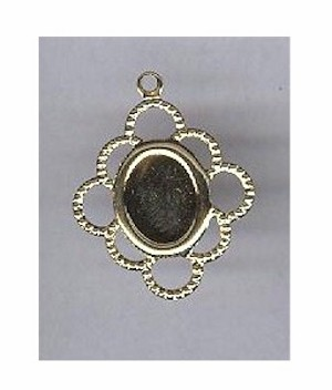 115x Gold 8x6 filligree setting with ring