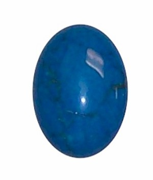 326X Dyed Howlite Turquoise 25x18 cabochon