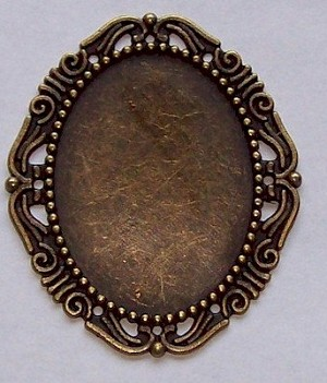 40x30mm Antique Brass Setting No Ring No Pin 366x