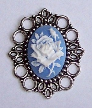 Antique Silver 25x18mm Setting NO PIN 494x