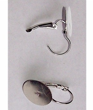 Silver Lever Back Earrings with 15mm Pad sold by the pair 498x