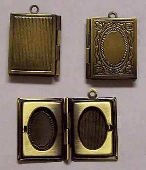 Antique Brass Book Locket 521x