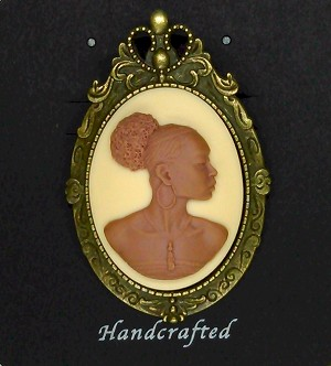 African American Woman Brooch Pin Pendant African Jewelry 548x787x