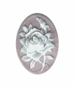 579q resin 18x13 lilac rose cameo.