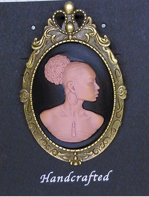 African American Woman Antique Bronze Brooch Pin Pendant Black Brown African Jewelry 646x787x