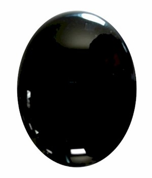 40x30mm Black Onyx Flat Back Gemstone Cabochon 669x